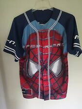 Vintage Spider-Man The First Movie Graphic Button Front Baseball Jersey Men L