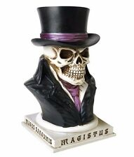 NIB Count Magistus Skull Magician Top Hat Money Box Bank V35 Alchemy Gothic