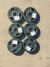 6 Cap Barbell Plates 2.5 LB Ea. Weight Dumbbell Standard (15 LB Total) FAST SHIP