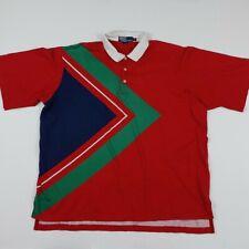Vintage Polo Ralph Lauren Shirt Rare 90s Geometric 92 Sport Tennis Stadium USA