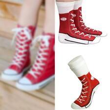 Ladies Mens Sneaker Socks Trainer Slipper Grip Silly Novelty Gift Christmas Lace