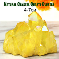 Natural Yellow Clear Quartz Cluster Mineral Specimen Crystal Healing