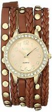 XOXO Women's XO5602 Gold-Tone Watch with Braided Faux Leather Band