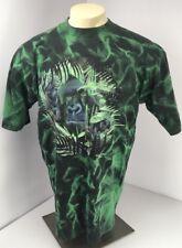 Vtg Planet Earth Gorilla All Over Print Tie Dye Shirt Mens Large Rare