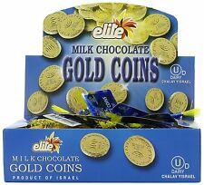 Lowest Priced Chanuka/Hanukah Milk Chocolate Gold Gelt Coins .53 oz - 24 bags