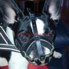 French Bulldog Muzzle Royal Nappa Padded Design | Small Dog Muzzle for Frenchie