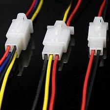 10er KFZ 2/3/4-Polig mit Kabel Steckverbinder Auto Stecker Verbinder Wasserdicht