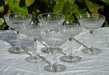 Baccarat - Service de 6 coupes à champagne en cristal taillé, modèle Cavour