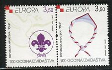 CROATIA 2007 EUROPA/SCOUTING CENT/SCOUT NECKERCHIEF/EMBLEM/DOVE/ORGANIZATION