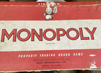 Vintage Monopoly Board Game Original Waddington's. 1960 's. Red