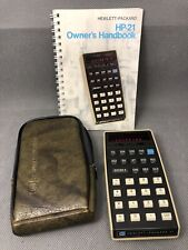 HP-21 Scientific Calculator with Case and Manuals