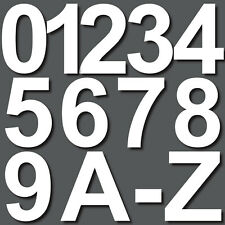 10cm weiß Aufkleber Hausnummer Wunsch Wahl Nr Nummer Zahl Ziffer Buchstabe ABC