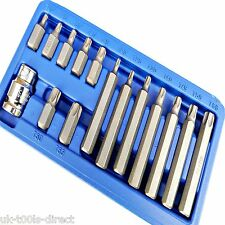 "Estrella Torx Llaves Set 15PC 1/2, ""Conducir Llave clave Socket Bit Set métrico T20-T55"