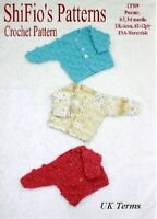 CROCHET PATTERN for BABY BOBBLE CARDIGAN IN 3 Sizes #309 NOT CLOTHES