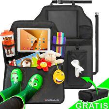 Autositzschoner Rückenlehne Kinder Doppelpack + Taschentücher-Box & Tablet-Fach