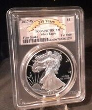 2017-W First Strike $1 PCGS Proof Silver Eagle PR70 1 of 1000 225th Ye Olde MInt