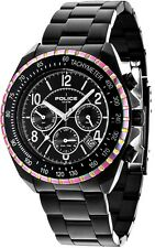 Police 14343JSBRW-02M Multi Dial Black Ion-Plated 2 Year Guarantee RRP £215.00