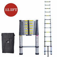 12.5FT Multi-Purpose Aluminium Ladder Telescopic Extension Foldable Steps EN131