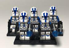5 Custom 501st Legion Clone Trooper Minifigures Star Wars Fits Lego Blocks