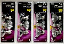 Lot Of 12 Feit Electric BPQ50MR16/GU10/3 Flood Reflector Bulbs, 50W, 120V, MR16