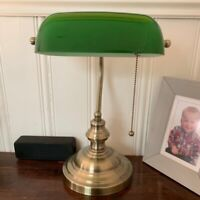 Green color GLASS BANKER LAMP COVER/Bankers Lamp Glass Shade lampshade B4C2) H3T
