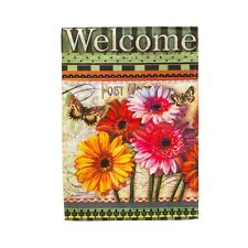 Floral Wishes Gerbera Daisy Butterfly Welcome Summer Sm Garden Flag
