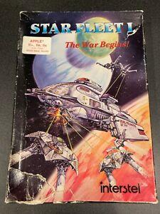 Star Fleet I by Interstel Apple II plus IIe 2 64K vintage computer game software