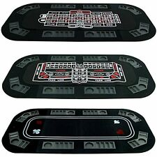 NEW Trademark Poker Superior 3 in 1 Poker/Craps/Roulette Tri Fold Table Top