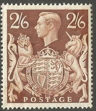 1939 2/6 Brown High Value Definitive Stamp MNH SG476