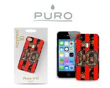 PURO COVER CUSTODIA IPHONE 4 4S TEAM MILAN NUMERO 10 COLLEZIONE HAPPINESS