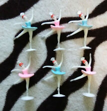 Lot of 24 Vintage Small Soft Plastic Ballerina Figures New Old Stock