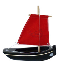 Bateau navigable Thonier bois 22 cm NEUF wooden Tuna boat Schiffbare Holzboot