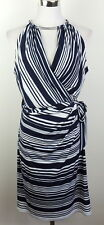 Jessica Simpson 10 Stretch Dress Striped Choker Necklace Detail Sleeveless