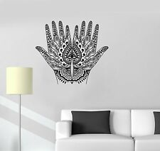 Vinyl Decal Mehendi Hand Painting Hindu Sanskrit India Wall Stickers (081ig)