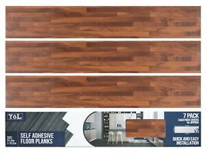 Floor Planks Tiles Self Adhesive Oak Wood Brown Vinyl Flooring Kitchen Bathroom