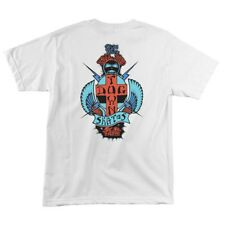 Dogtown Paul Constantineau PC TAIL TAP Skateboard Shirt WHITE w/RED/BLUE XL