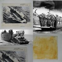 Rare WWII 1942 Classified British D-Day Landing Craft TLC Testing Photo Relic