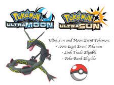 Pokemon Ultra Sun and Moon Skytrees Shiny Rayquaza Japan Event Pokemon
