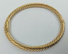 14K YELLOW GOLD CABLE BANGLE BRACELET