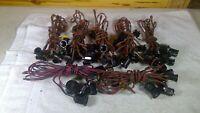 7 - Vintage Christmas Light Strings (C7, M, 8A) 7 Bakelite Receptacles EA