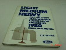 Vintage Ford 1980 Truck Shop Manual Pre-Delivery Maintenance All Model Lt Med Hv