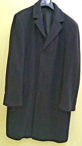 Marks and Spencer's Men's Wool mix long Water Repellent overcoat Size L 41 - 43