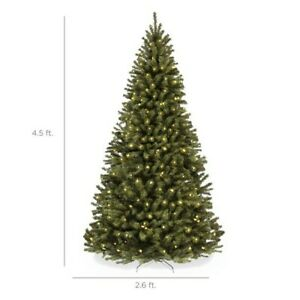 Best Choice Products 4.5ft Pre-Lit Spruce Hinged Artificial Christmas Tree w/ 20