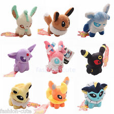 "Lot 9 Pokemon Plush Toy Doll figure Eevee Espeon Sylveon Umbreon Jolteon 5"" 12cm"