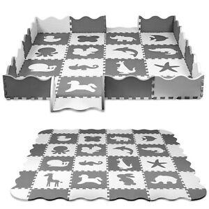 Spielteppich Puzzlematte Spielmatte Kinderteppich Nestchen Nest 52-tlg mit Rand
