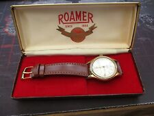 vintage , mens ROAMER AUTOMATIC, WATCH ,SUPER DIAL, TICKING RECENT STRAP..