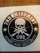 2nd Amendment Hard Hat Vinyl Sticker Helmet Decal  Label Motorcycle Gun Rights