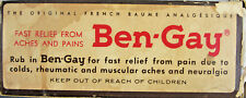 1960 Ben Gay Muscle Topical Vintage Medical Ointment