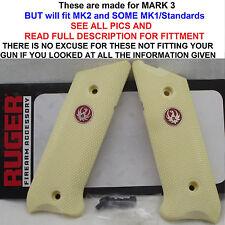 Factory RUGER Simulated Ivory Grips Mark MK I II III 1 2 3 MK2 MK3 MKiii MKii