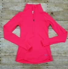 Under Armour Jacket Half/Back Zip Thumb Holes Cold/Gear Pink Size XS